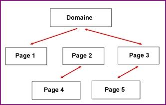 Le liens des pages vers le domaine principal
